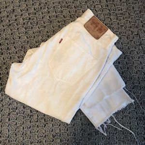 White Vintage Levi's 501 Red Tag Jeans